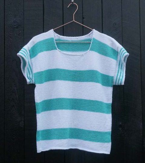 Striped sailor t-shirt – free knitting pattern