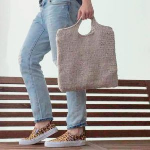 Handle shopper taske - strikkeopskrift - Knit Wit Company